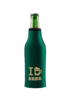 neoprenový termoobal na pivo 0,33l green