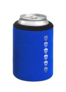 Neoprenový termoobal na plechovku 0,33l potisk lebky blue