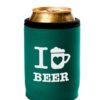 Neoprenový termoobal na plechovku 0,33l potisk I love beer green white