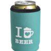 Neoprenový termoobal na plechovku 0,33l potisk I love beer mint white