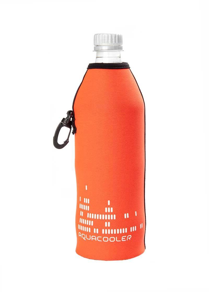 Neoprenový termoobal na skleněnou a PET láhev objem 0,5l potisk Aquacool orange