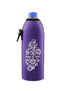 Neoprenový termoobal na plastovou láhev 0,5l freschcool lila