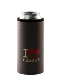 Neoprenový termoobal na plechovku 0,5l I love Prague - Hradčany grey-gold