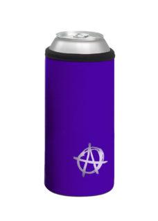 Neoprenový termoobal na plechovku 0,5l potisk Anarchista fialová