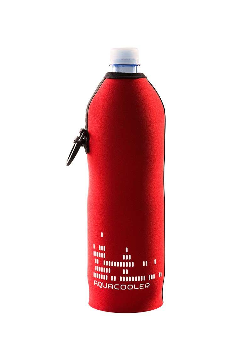Neoprenový termoobal na plastovou láhev objem 0,7l potisk Aquacool red