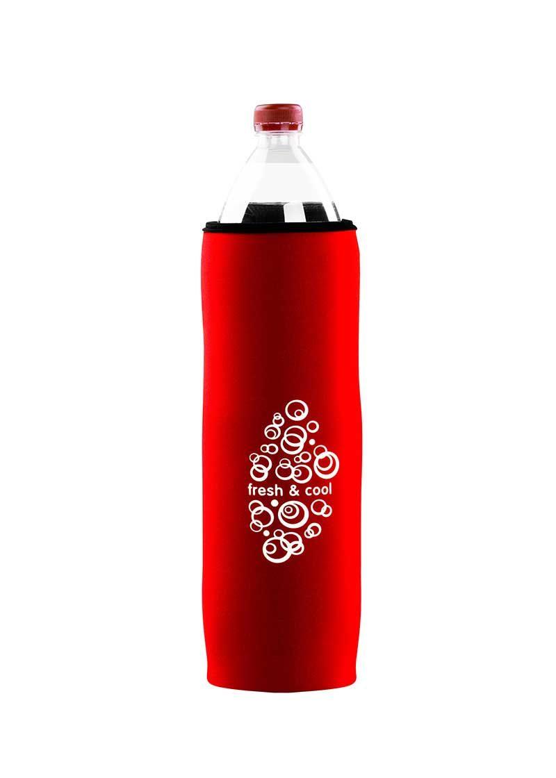 Neoprenový termoobal na PET láhev 1,5l fresh-cool red
