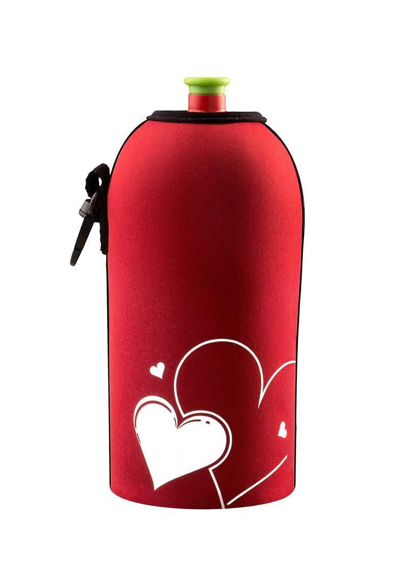 Neoprenový termoobal na sportovní a Zdravou lahev objem 0,5l potisk Love