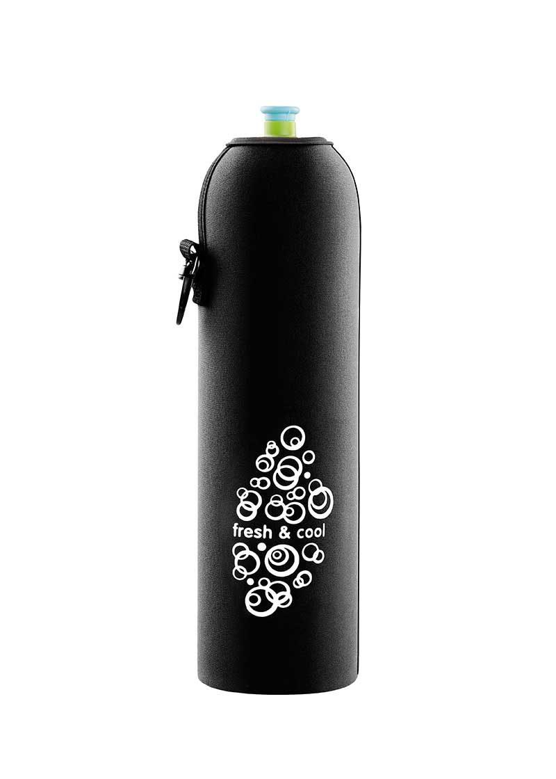 Neoprenový termoobal na sportovní a Zdravou lahev o objemu 1,0l black