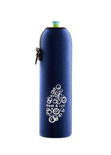 Neoprenový termoobal na sportovní a Zdravou lahev 1,0l freshcool darkblue
