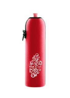 Neoprenový termoobal na sportovní a Zdravou lahev 1,0l red