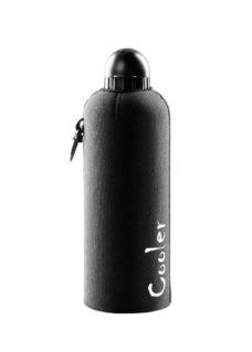 Neoprenový termoobal a hliníková láhev 0,6l black