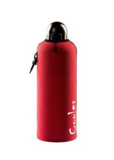 Neoprenový termoobal na hliníkovou láhev 0,6l red