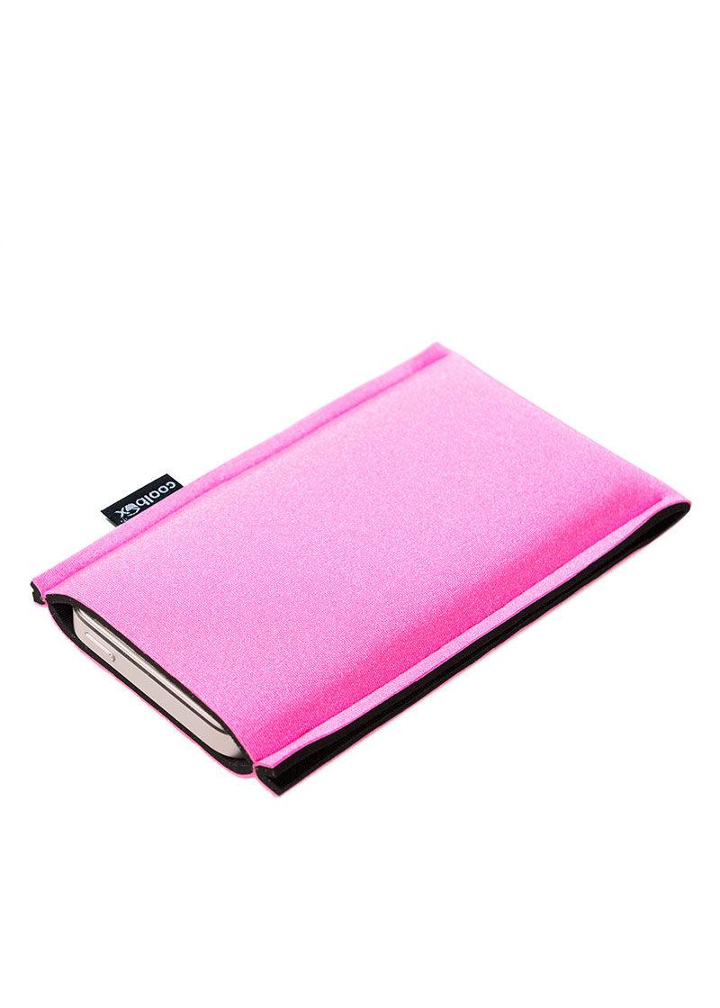 Neoprenové pouzdro na mobil pink-black