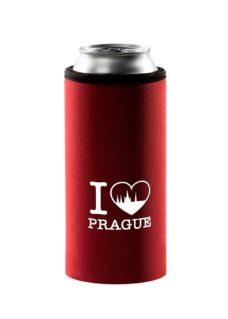 Neoprenový termoobal na plechovku 0,5l potisk I love Prague white cihla