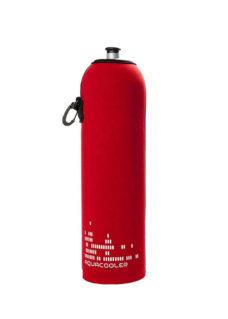 Neoprenový termoobal na sportovní a Zdravou lahev 1,0l potisk Aquacooler red