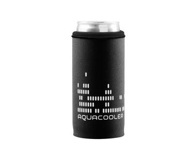 Neoprenový termoobal na plechovku 0,2l potisk Aquacooler black