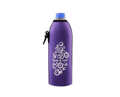 Neoprenový termoobal na plastovou a skleněnou láhev 0,5l potisk Fresh-cool lila