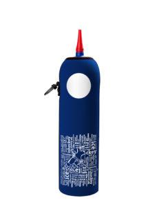 Neoprenový termoobal na hokejovou láhev 1,0l potisk nápisy darkblue