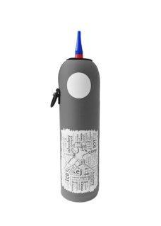 Neoprenový termoobal na hokejovou láhev 1,0l potisk Nápisy crash grey
