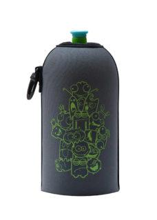 Neoprenový termoobal na sportovní a Zdravou lahev 0,5l potisk Monsters grey