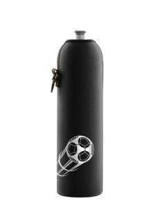 Neoprenový termoobal na sportovní a Zdravou lahev 1,0l potisk fotbalový míč black
