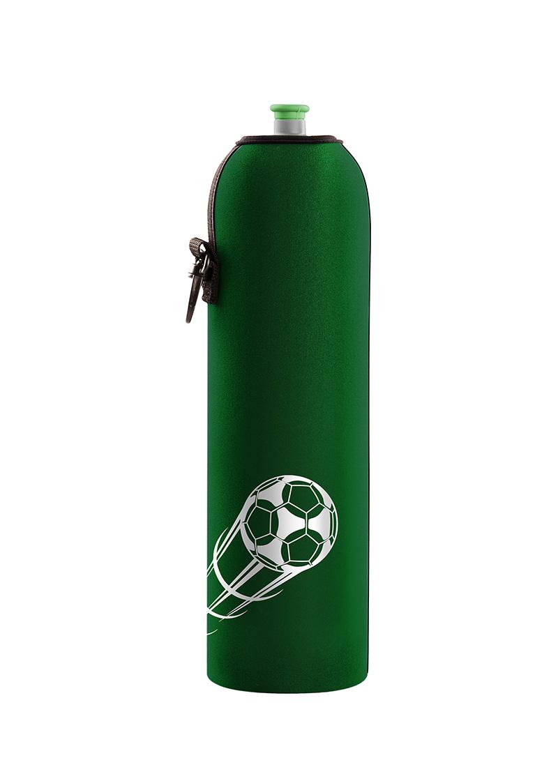 Neoprenový termoobal na sportovní a Zdravou lahev potisk Fotbalový míč green