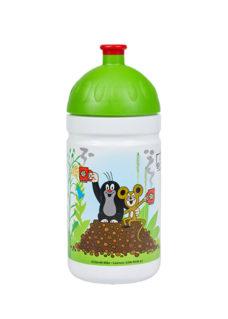Zdravá lahev 0,5l Krtek a jahody zelená zadní