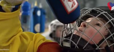 Termoobal na hokejovou láhev reklama