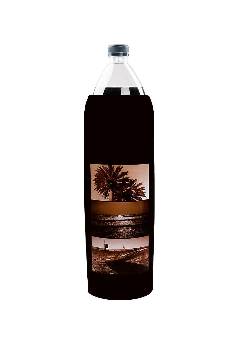 Neoprenový termoobal na láhev objem 1,5 potisk léto black