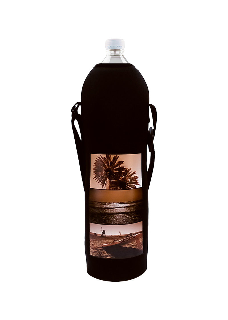 Neoprenový termoobal na láhev objem 1,5l potisk léto black