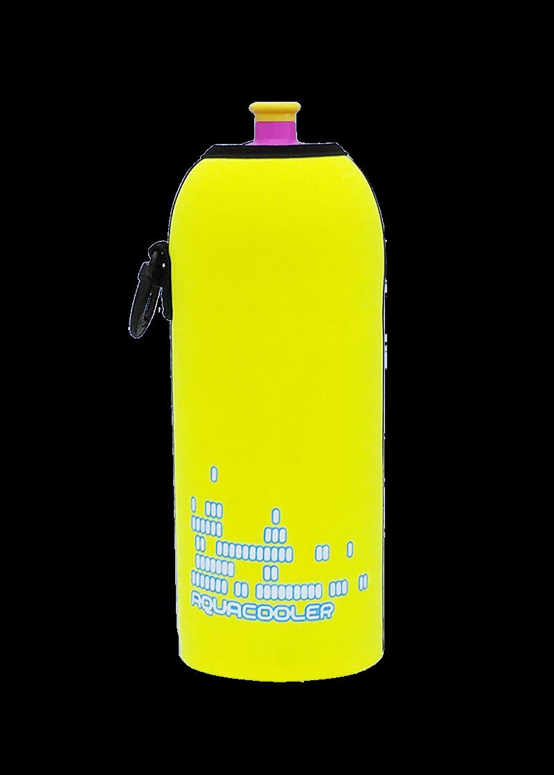 Neoprenový termoobal na sportovní lahev objem 0,7l potisk Aquacooler -yellow