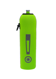 Neoprenový termoobal na sportovní a Zdravou lahev objem 1,0l potisk Vykřičník lightgreen
