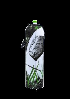 Neoprenový termoobal na sportovní a Zdravou lahev objem 1,0l sublim potisk Míč v trávě