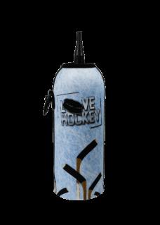 Neoprenový termoobal na hokejovou láhev 0,7l potisk Hokejky na ledě