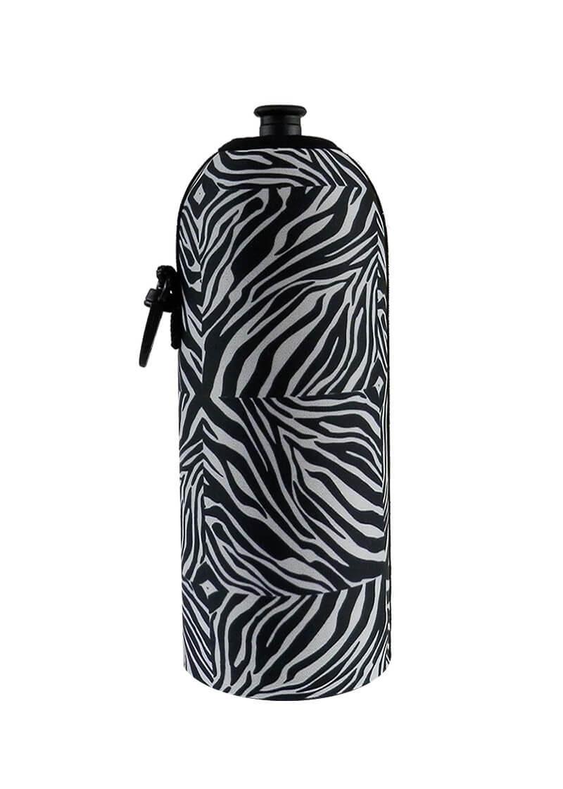 Neoprenový termoobal na sportovní a Zdravou lahev 0,7l potisk zebra