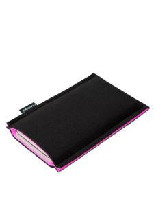 Neoprenové pouzdro na mobil black-lilac