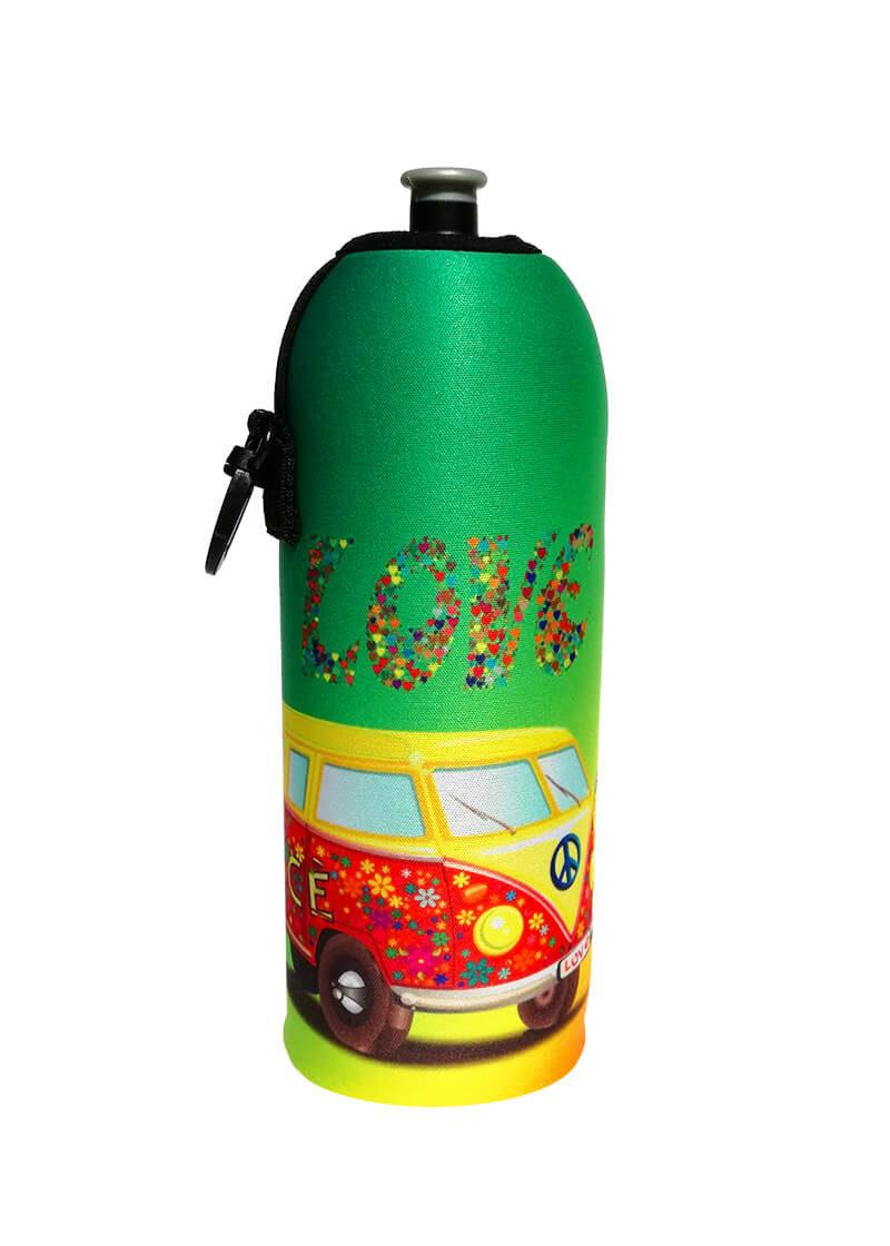 Neoprenový termoobal na sportovní a Zdravou lahev 0,7l potisk Hippie
