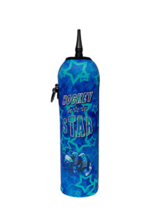 Neoprenový termoobal na hokejovou láhev 1,0l potisk Hockey star blue