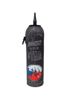 Neoprenový termoobal na hokejovou láhev 1,0l potisk Hockey Star CZ