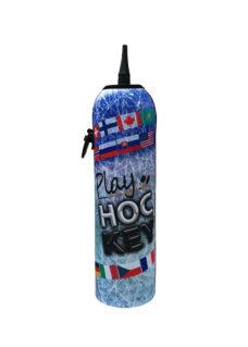 Neoprenový termoobal na hokejovou láhev 1,0l Vlajky