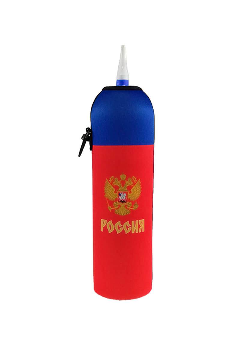 Neoprenový termoobal na hokejovou lahev 1,0l potisk Russia