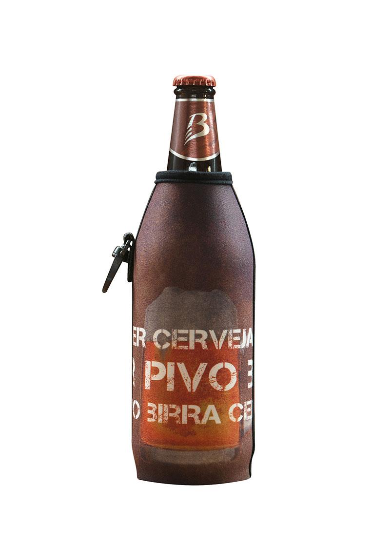 Neoprenový termoobal na sklo a PET lahev 0,5l Pivo