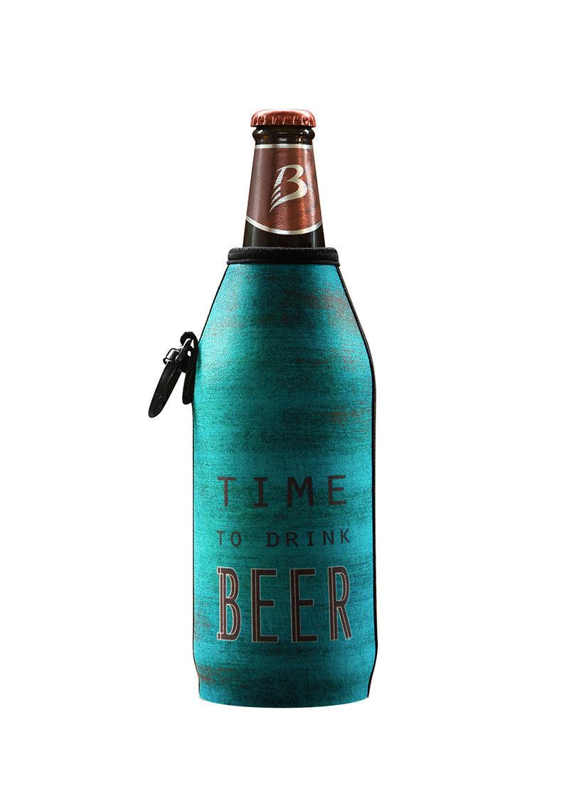 Neoprenový termoobal na sklo a PET lahev 0,5l Time to drink beer