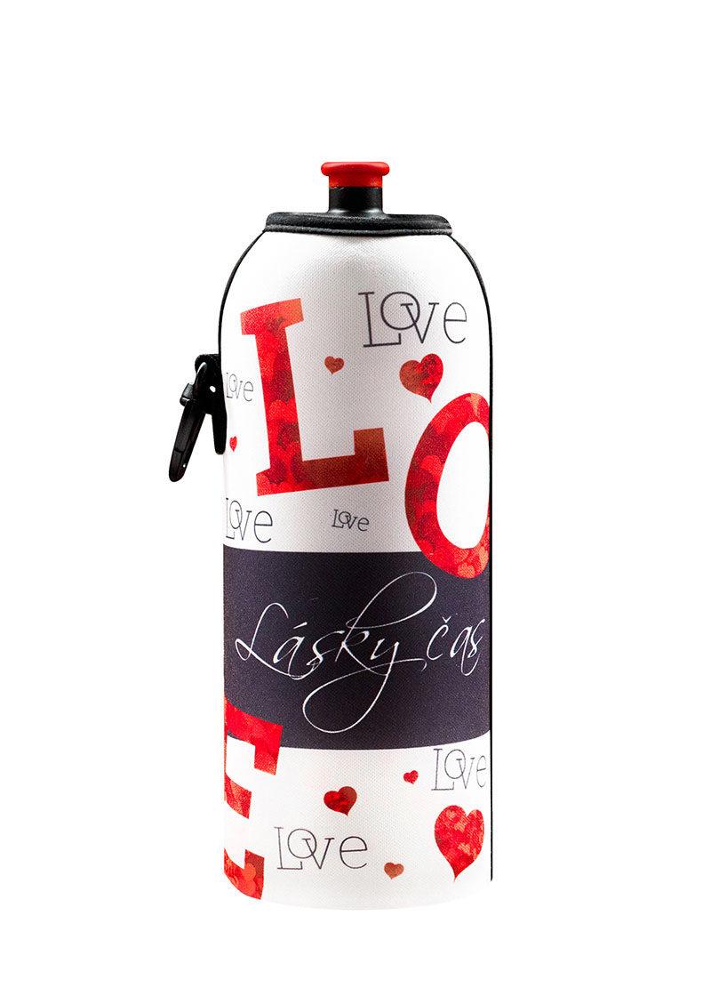 Neoprenový termoobal na sportovní a Zdravou lahev 0,7l Lásky čas