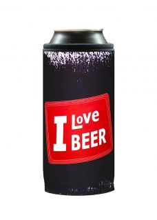 Neoprenový termoobal na plechovku 0,5l I love beer red