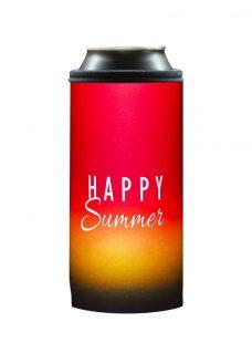 Neoprenový termoobal na plechovku 0,5l happy summer red