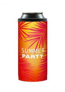Neoprenový termoobal na plechovku 0,5l summer party orange